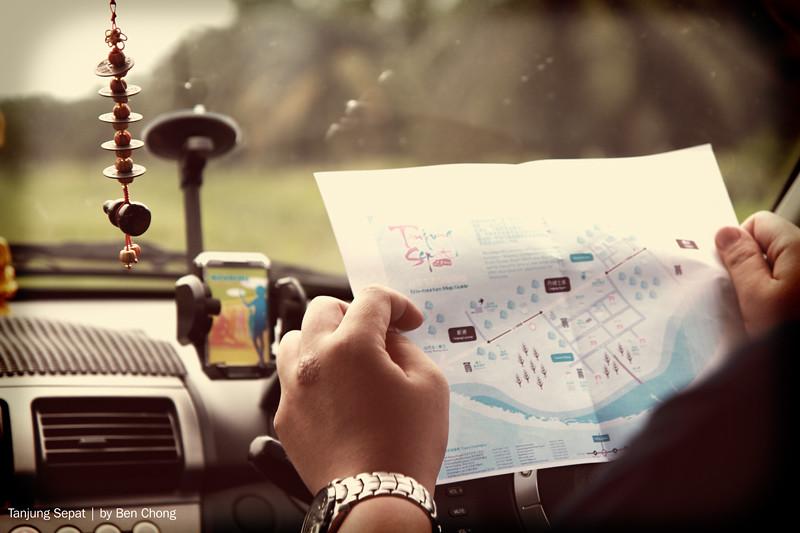 Tanjung Sepat - GPS on paper