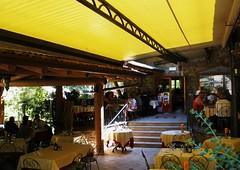 Love the yellow... (fata_ci) Tags: yellow italia estate agosto giallo sedie ristorante lombardia tavoli