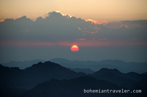 sunrise from Mount Sinai