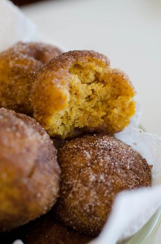 Baked Pumpkin Donut Holes