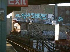 Cash, Smells, Swamp Donkey, Egg Yolk, Vex, Nemz (NewYorkNostalgia) Tags: graffiti 4 egg donkey cash swamp smells yolk vex nemz