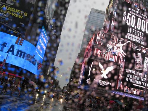 Times Square in Rain