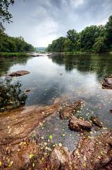Rappahannock River Bank (Sky Noir) Tags: travel fall rain river virginia rocks line va waterscape rappahannock skynoir bybilldickinsonskynoircom