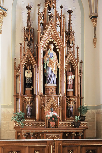 Saint Peter Roman Catholic Church, in Jefferson City, Missouri, USA - altar of Saint Joseph
