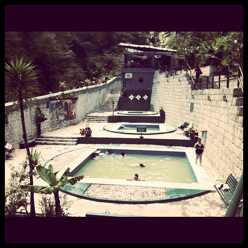 The hot springs in #aguascalientes are actually just tepid. Still a nice way to relax after traveling. #Peru #travel