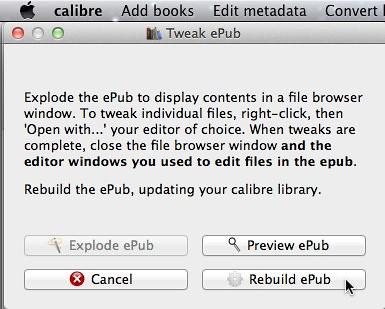 Rebuild EPUB