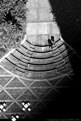 Up or Down.... (liam_griffith) Tags: people bw japan stairs canon landscape tokyo photo shadows chairs tables 5dmkii