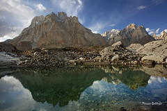 Cathedral Tower (5866m) Lobsang Spire (5707m) (Mountain Photographer) Tags: pakistan mountain mountains altitude towers peak spire concordia peaks himalaya baltistan himalays highaltitudes gilgat k2trek alttitude northranarea rizwansaddique gettyimagespakistanq2 cathedraltower5866m lobsangspire5707m baltoromuztagh highalttitude