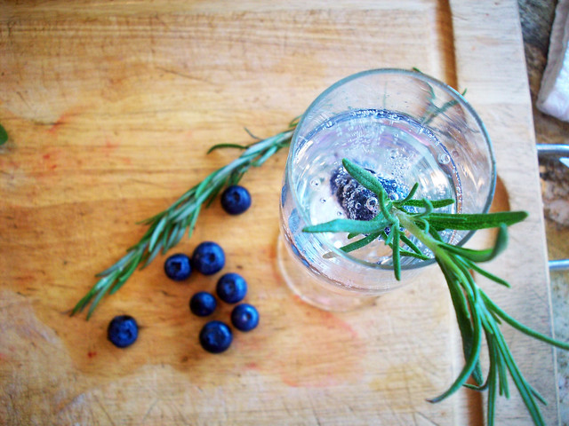 Julip Made: Pick-Me-Up... Blueberry and Rosemary Gin Fizz