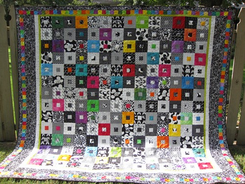 Tulips quilt finished