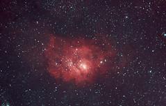 Lagoon nebula Ha-RGB (Neil's Astro) Tags: Astrometrydotnet:status=solved Astrometrydotnet:version=14400 Astrometrydotnet:id=alpha20110828477828