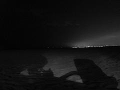 (cuantofalta) Tags: barcelona blackandwhite bw espaa blancoynegro beach night lights luces noche spain sand exterior playa shades catalonia bn arena catalunya sombras catalua ocata elmasnou cuantofalta paulagimeno