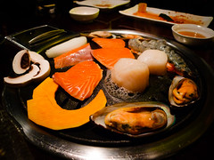 Assorted seafood BBQ at Koba