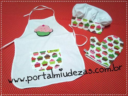 Kit Cheff Cupcake Branco by miudezas_miudezas