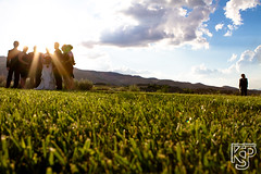 (Kevin Sawyer) Tags: blue wedding party sky people sun mountains cute green grass clouds kid glare unique formation single