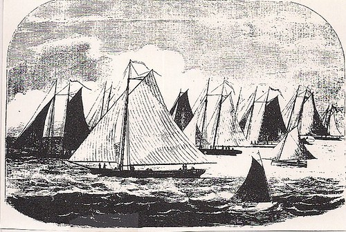 June 1857 New York Yacht Club Regatta (Source N/A)