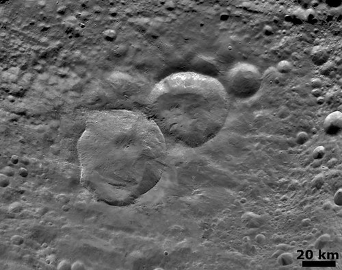 Snowman Craters on Vesta