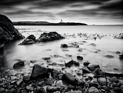 WET ROCKS (kenny barker) Tags: longexposure sea sky lighthouse seascape landscape dawn coast scotland rocks fife dusk panasonic g1 elie coastuk