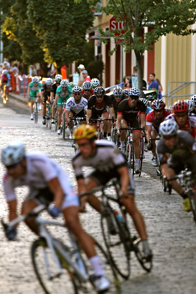 Racing over cobbles