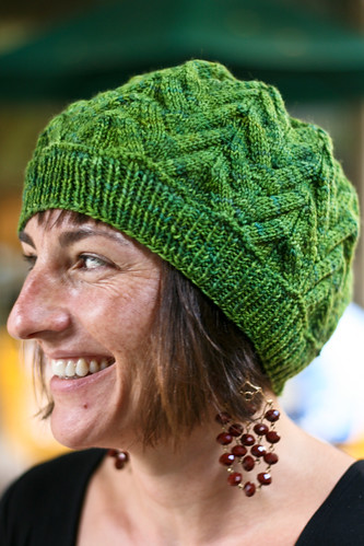 "Cecily Beret in DiC Smooshy ""Happy Forest"""