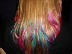 Closeup (Maria Clarite) Tags: pink blue colors hair fun style tips dye layered cosmetology