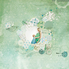 waiting for 'O' (ania-maria) Tags: blue green love scrapbooking layout waiting child little o sister brother circles pregnancy lo prima motherhood annamaria ils primamarketing aniamaria ascrap