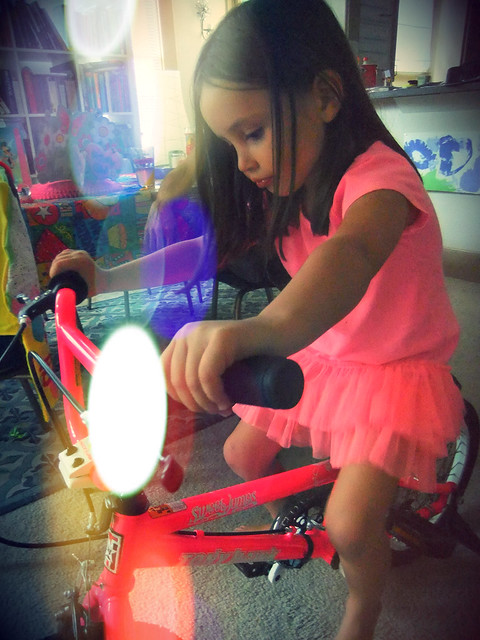 Ella's rad new pink bike