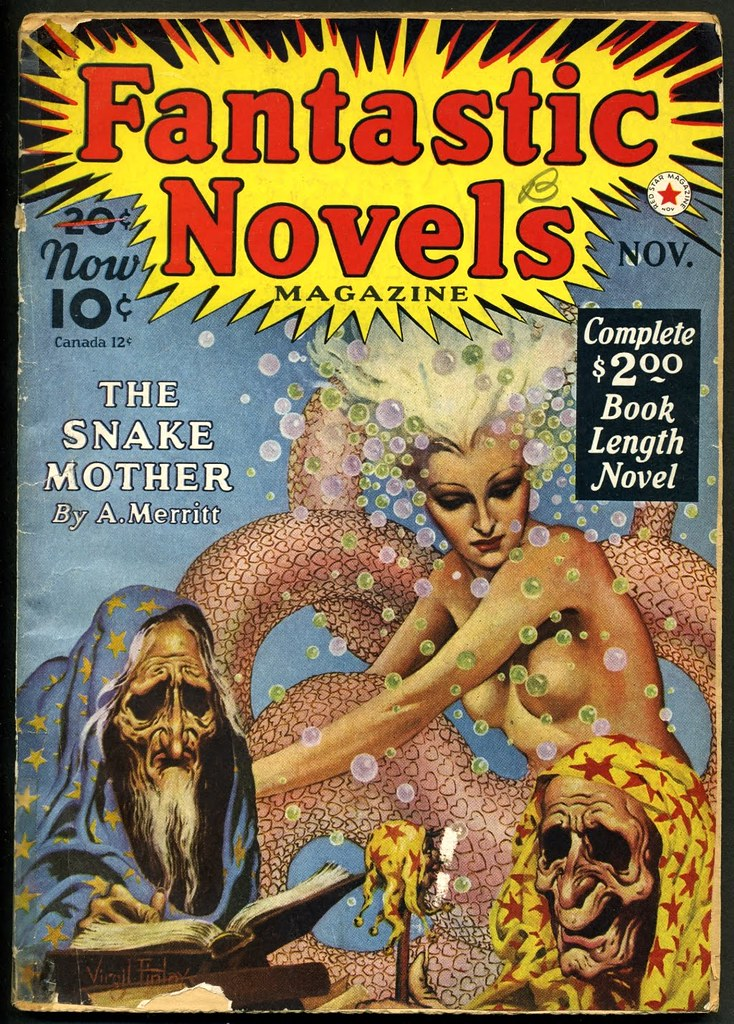 Virgil Finlay - Fantastic Novels, November 1940