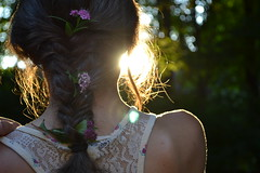 (114/365) (*amanda lynn) Tags: flowers light hair braid fishtail