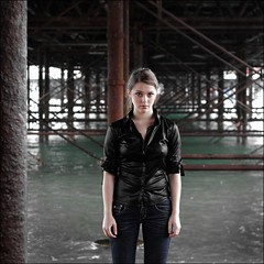 under the pier (unexpectedtales) Tags: woman beautiful face fashion book pier women brighton pretty tales stunning imogen weekly unexpected blurb youtube unexpectedtales imogenx
