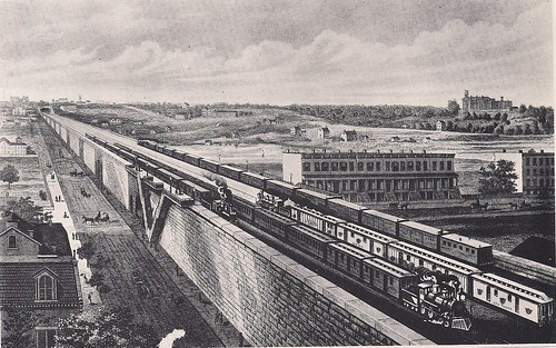 1875 - 1876 Four-Track Viaduct Over Harlem Flats, N.Y. Central
