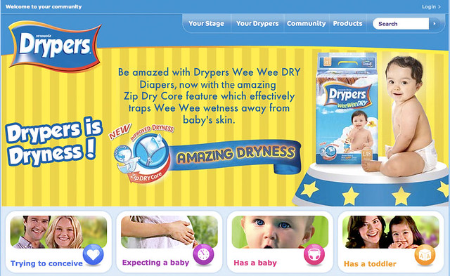 drypers home page