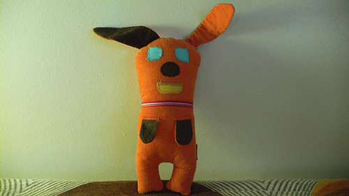 #25 Orange Dog - heart made dog from Mamima collection by mamima project