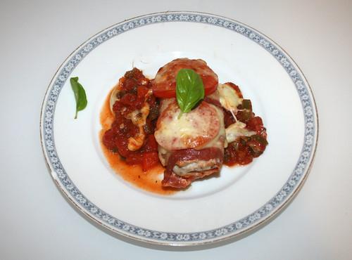 28 - Saltimbocca-Hähnchen / Chicken saltimbocca - Serviert