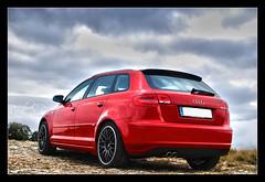 Audi A3 Sportback Red HDR - Raul SP  (Raul SP) Tags: photoshop photo spain nikon raw nef foto catalonia sp raul a3 catalunya fotografia audi fotoblog hdr imagen sportback raulsp