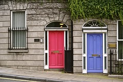 adjacent doors (Toni F.) Tags: pink blue dublin composition doors dublinia tonif