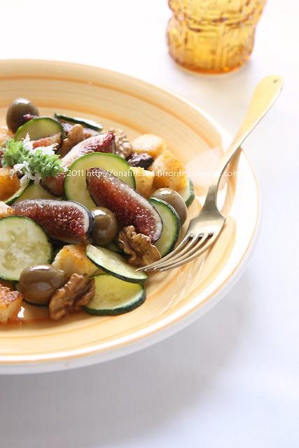 Insalata di fichi, zucchine e olive