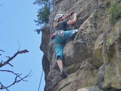 Josie Climbing Wheel of Fortune (5.10b)