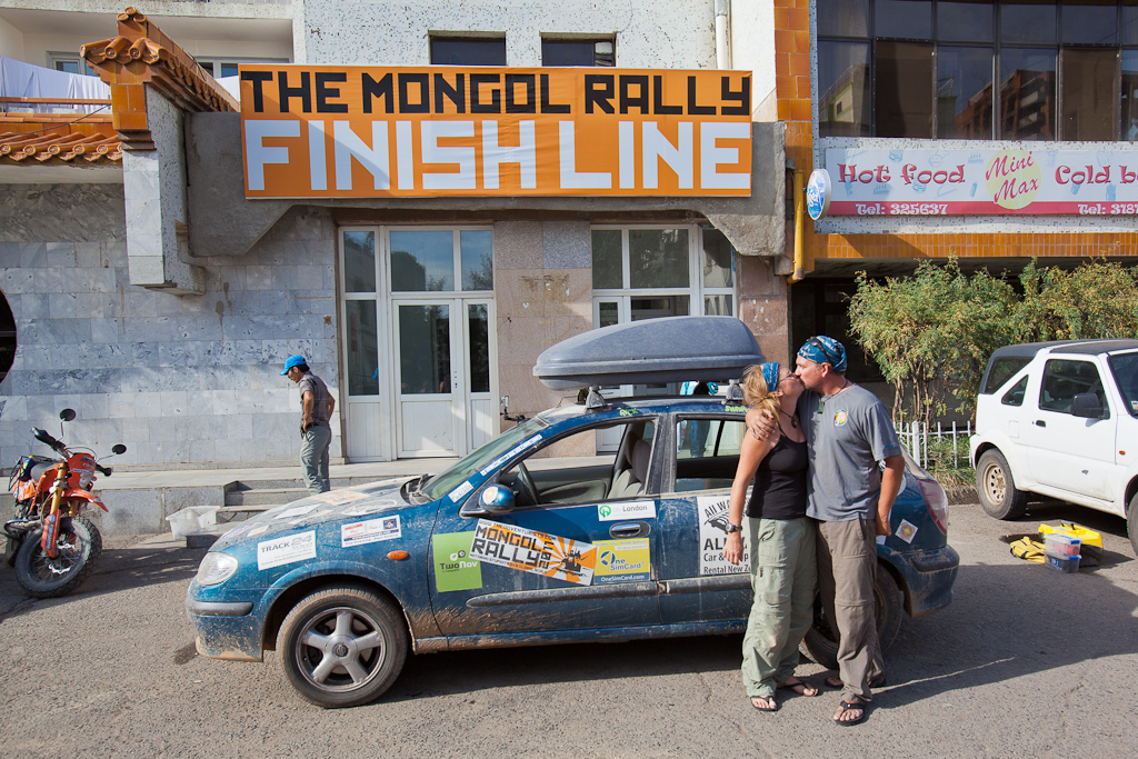 Mongol Rally Finish Line