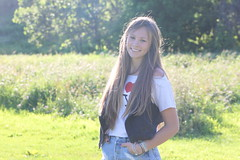 summer days (taylorleeanneking) Tags: summer girl beautiful smile field digital canon happy rebel gorgeous meadow t1i