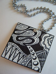 candyfloss at the beach zentangle necklace 2