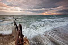 Selsey Delivers (Olly Plumstead) Tags: camping sunset sea sky holiday seascape motion blur english water canon landscape sussex evening coast early sigma british olly 1020 selsey swoosh plumstead 450d