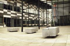 Bench Monday - West Edition (PhotoJunket) Tags: cambridge stone bench university bokeh granite sigma105mm madingleyrd thehauserforum universitywestcambridgesite