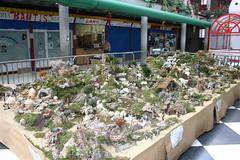 Belen situado en la plaza del mercado.