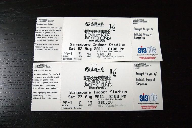 Jacky Cheung 1/2 Century Tour Concert 27 August 2011