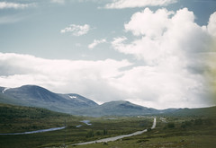 Dovre, Oppland, Norway (Swedish National Heritage Board) Tags: road sky mountains 1948 norway clouds landscape europe riksantikvariembetet theswedishnationalheritageboard