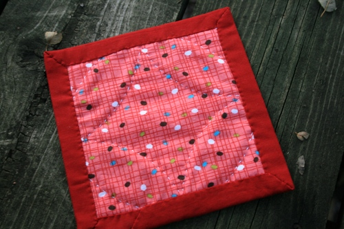 Cathedral Window Mini Quilt