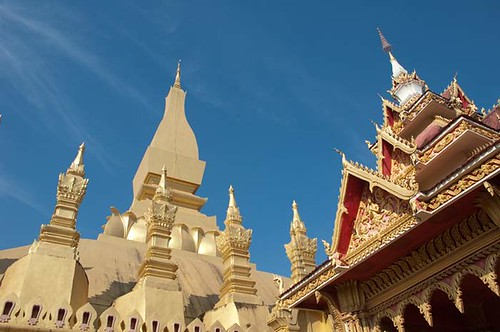 Golden Stupa, Vientiane, Laos