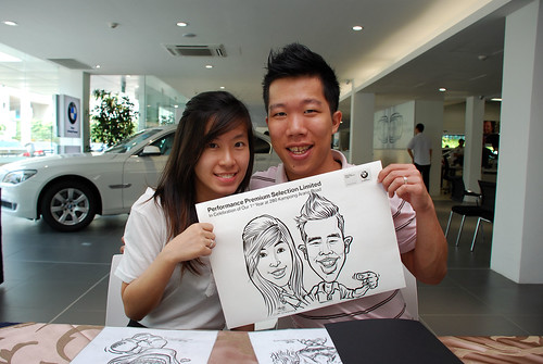 Caricature live sketching for Performance Premium Selection first year anniversary - day 2 - 3