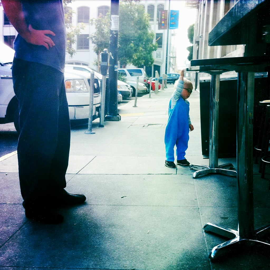 cute kid at Blue Bottle